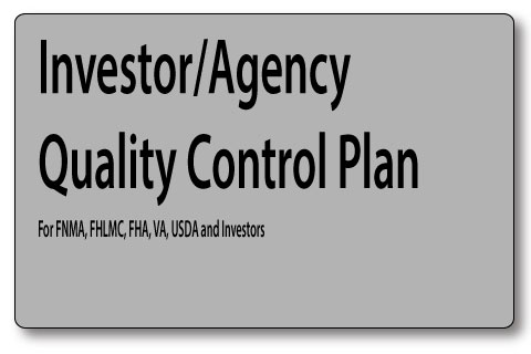 Mortgage Quality Control Plan for lenders, bankers and correspondents