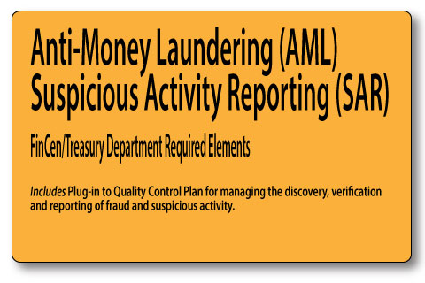 Anti Money Laundering Sar Reporting Mortgage Policies And